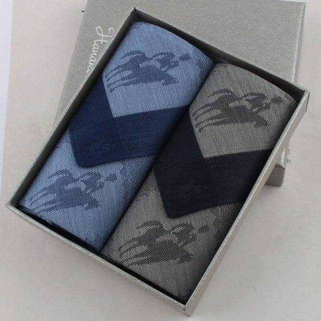 2 unids/lote hombres de pañuelos pañuelo de algodón 100% Knight impresión pañuelos para el varón 47 * 47 cm 3 sets