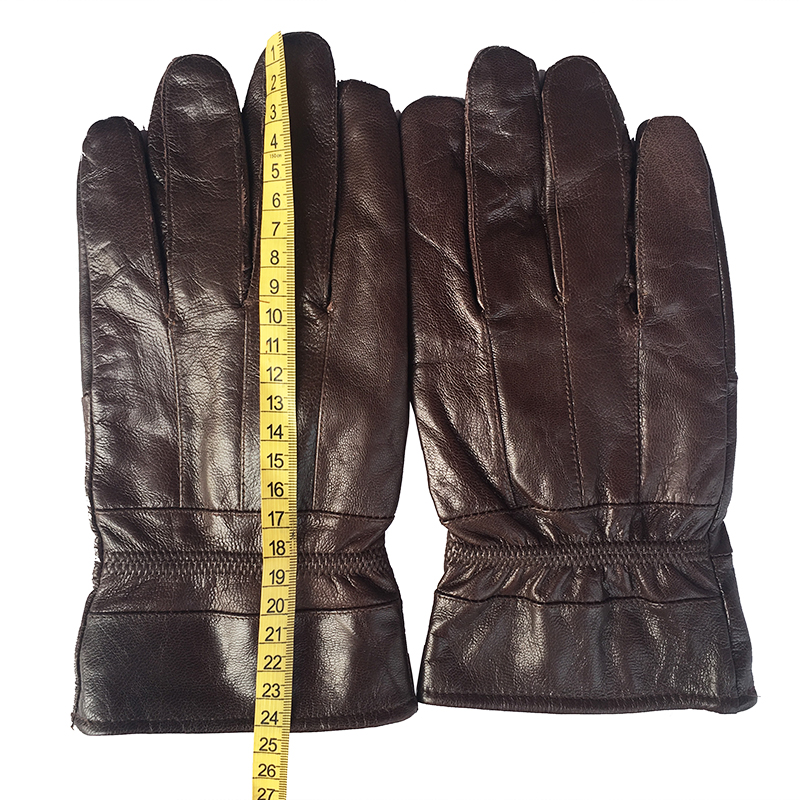 New 2018 Men's Genuine Leather Gloves Real Sheepskin Black Touch Screen Gloves Button Fashion Brand Winter Warm Mittens gifts