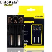 цена на Liitokala new lii-202 dual slot smart 186502665018350 14500 lithium battery charger USB input output