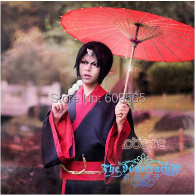 Free Shipping! New Japan Anime Hoozuki No Reitetsu Hoozuki Kimono Cosplay Costume ,Perfect Custom For you!
