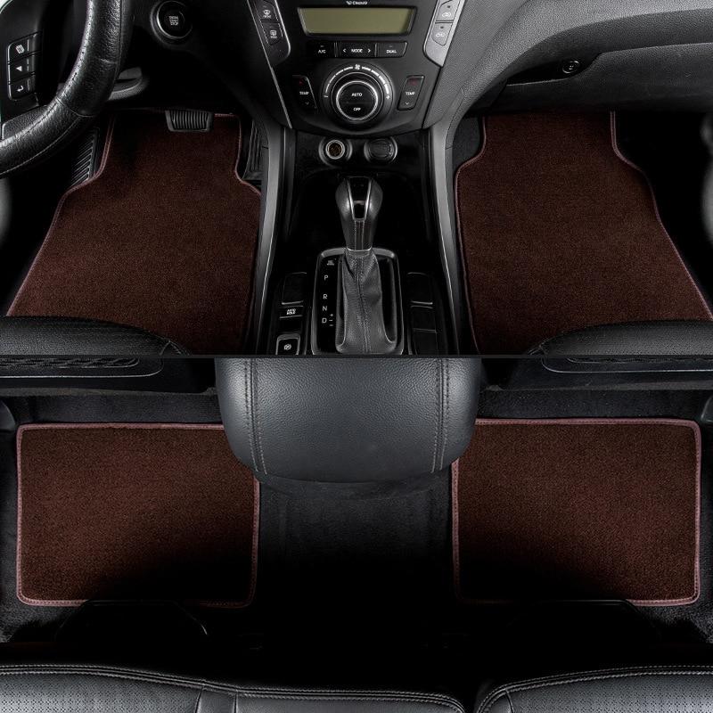 kalaisike universal car floor mats for Toyota All Models corolla yaris RAV4 land cruiser Prado CROWN Previa camry car styling