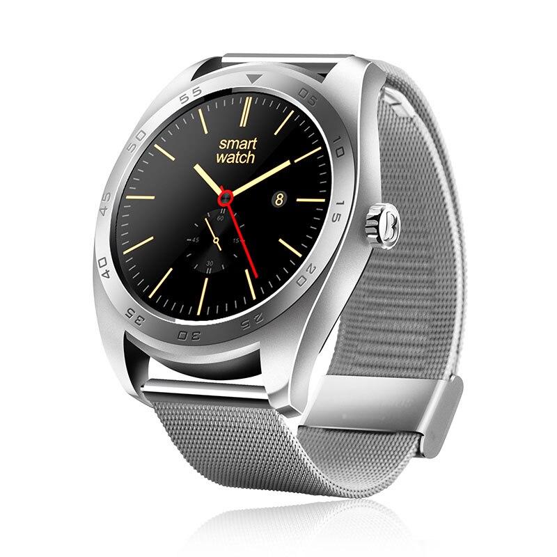 Galleria fotografica Smart Watch K89 Ronde Écran Bluetooth Montre-Bracelet Message D'appel Rappel Moniteur de Fréquence Cardiaque Smartwatch Pour Apple Android IOS