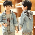 Boys Denim Jacket Jean Jacket Boys Overcoat Big Boys Coat Outerwear Fashion Autumn Denim Jackets for Boy Denim Coats