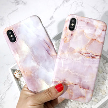 Granite Marble Texture Pattern Phone Cases For Coque iphone 6 Case 8 7 6S Plus X Back Cover Fashion Soft IMD