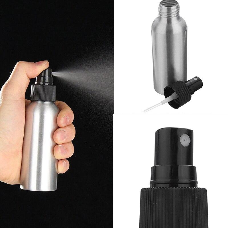 1pcs 30ml 50ml Aluminium Spray Atomiser Bottle Refillable Empty Bottles Black Perfume Bottle Travel Essentials Atomizer