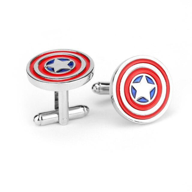 free shipping Captain America cufflinks shirts cufflinks cuff button fashion enamel quality super hero Gemelos wholesale