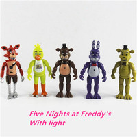 5 Pcs Set 14cm Five Nights At Freddy S PVC Action Figure Toy Foxy Gold Chica