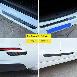 Image 5 - Universal Door Guard Bumper Rubber Protector Front Rear Door Entry Sill Guard Scuff Plate For Most Cars 100% Waterproof DB006