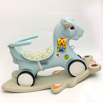 Free Shipping Large New Baby Rocking Horse  Children's Wooden Horse Rocking Chair with Music