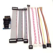 Для JLINK V8 V9 Адаптер Плиты JTAG SWD многофункциональный для ULINK2 STLINK V2 мульти-переключатель функций доска 2,54 плоский кабель