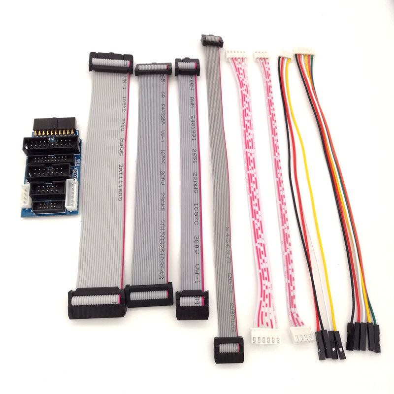 For JLINK V8 V9 Adapter Plate JTAG to SWD Multi-function for ULINK2 STLINK V2 Multi-function Switching Board 2.54 Flat Cable
