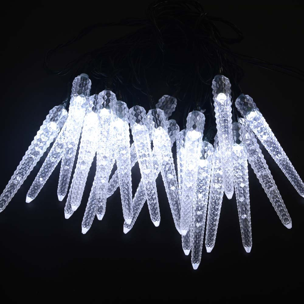 Led icicle solar powered string lights 16ft 20led fairy christmas led icicle solar powered string lights 16ft 20led fairy christmas lights decorative lighting outdoor decor garden patio in lighting strings from lights aloadofball Images