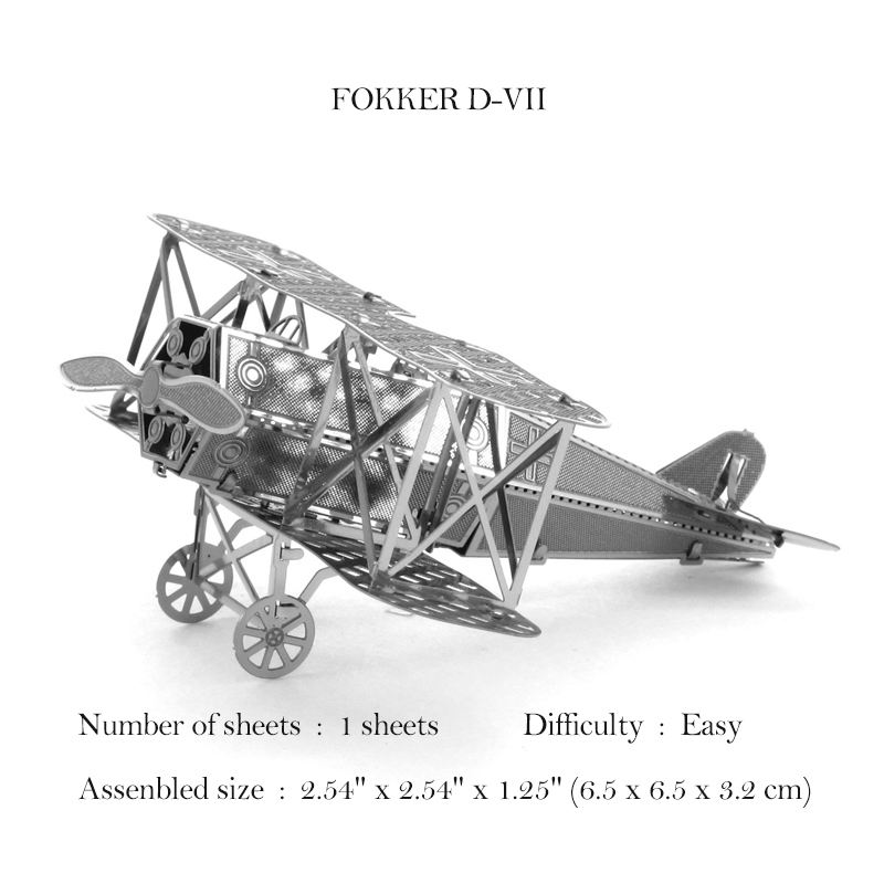 <font><b>Puzzle</b></font> 3D Metal Model AVRO LANCASTER BOMBER/De Harvilland Tiger Moth/ Wrighter <font><b>Brother</b></font> Airplane Adult Collection Jigsaw Toy Gift