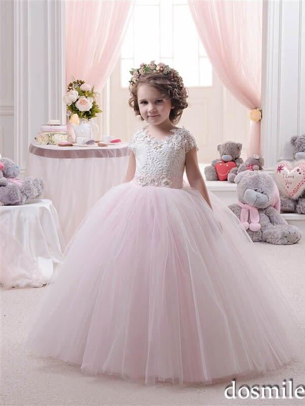 Aliexpress.com : Buy 2016 Cute Princess Lace Appliques Flower Girl ...