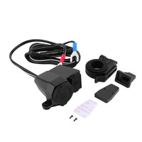 New 1pc Motorcycle Waterproof 12V Cigarette Lighter USB Power Socket Charger For Phone Hot Selling