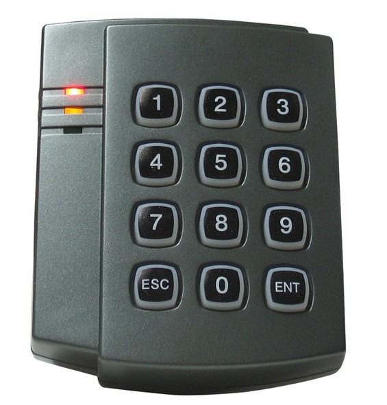 Free shipping, rfid reader, proximity Keypad em/ID card reader with wiegand26/34 output, for Access Control sn:08F-ID,min:5pcs access control proximity rfid keypad card reader wiegand 26 34 idreader