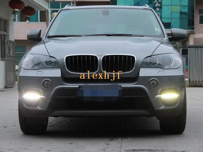 July King LED Daytime Running Lights DRL, LED Front Bumper Fog Lamp Case for BMW X5 E70 2011~2013 1:1 replacement, PX type july king led daytime running lights drl case for opel antara 2011 on led front bumper fog lamp with cover 1 1 replacement