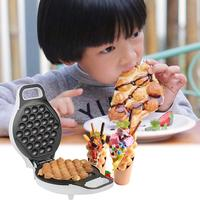 Household Egg Puffs Machine Portable Double sided Heating Hong Kong Style Waffle Oven Portable Electric Eggs Cake Maker