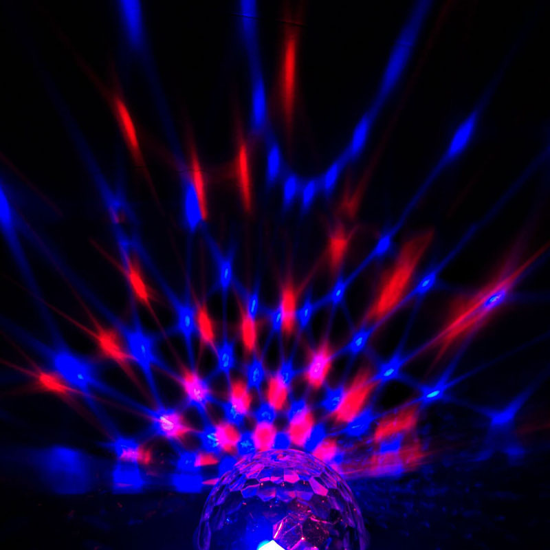 Newest EU Plug RGB Crystal Magic Ball Stage Lighting For Party Disco DJ Bar Bulb Lighting @8