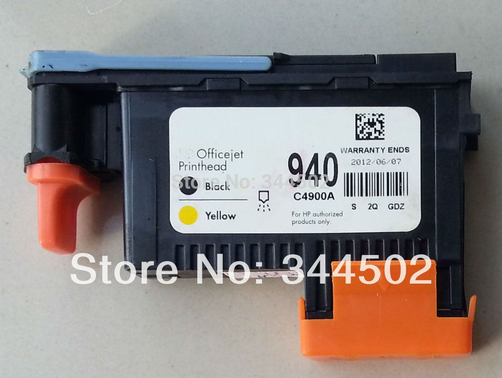 used 940 BLACK / YELLOW PRINTHEAD C4900A for H P OfficeJet Pro 8500 8000