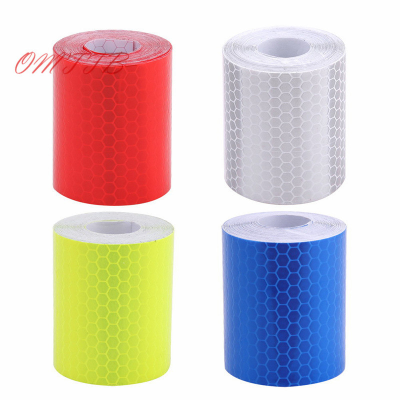 HOT 3M Fluorescence Pure Reflective Car Truck Motorcycle Sticker Safety Warning Signs Conspicuity Tape Roll 5cm*3m car-styling 1cm x 5m 3m car motorcycle reflective tape sticker original 3m brand with free shipping