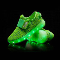 Kids LED Sneakers 2017 New Fashion Luminous USB Rechargeable Child Shoe Breathable Boys Girls Sports Shoes