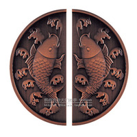 Chinese antique carved small semicircular glass door handle door handle door handle modern handle