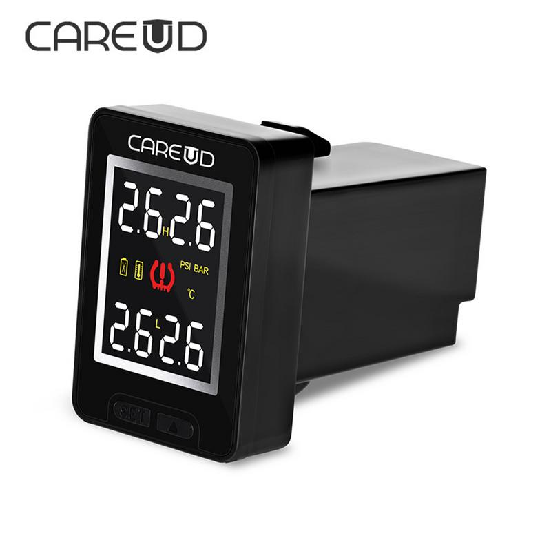 все цены на CAREUD U912 Car Wireless TPMS Tire Pressure Monitoring System with 4 External Sensors LCD Display Embedded Monitor For Honda