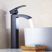 Solid Brass ChromeAnd Black ORB Bathroom Sink Basin Faucet Black Mixer Tap Deck Mounted black faucet