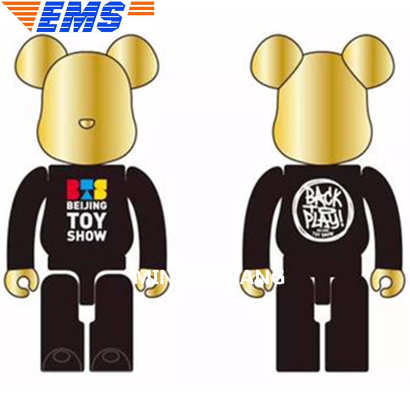 27Bearbrick Gloomy BB Kaws 1000% Be@rbrick BRIAN Original Fake Birthday Gift Action Figure Collectible Model Toy 70CM BOX Z41 цена