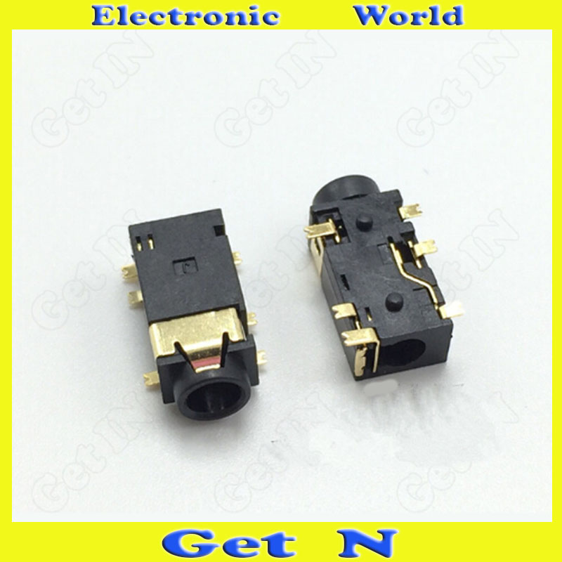 30pcs-2000pcs PJ-342 Headphone Socket 3.5MM Auido Video Connector 6SMD Pins for Tablet P ...