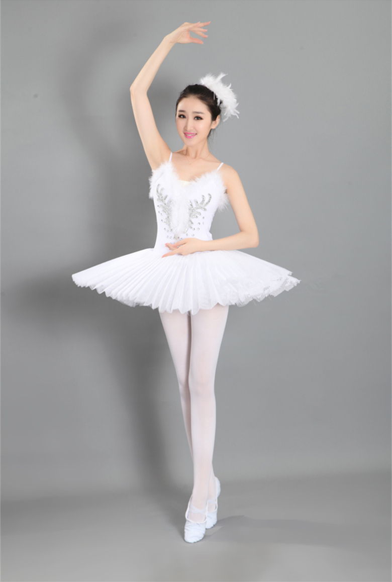 Free shipping new ballet tutu professional adult ballet dance dress costume sequins swan lake dress