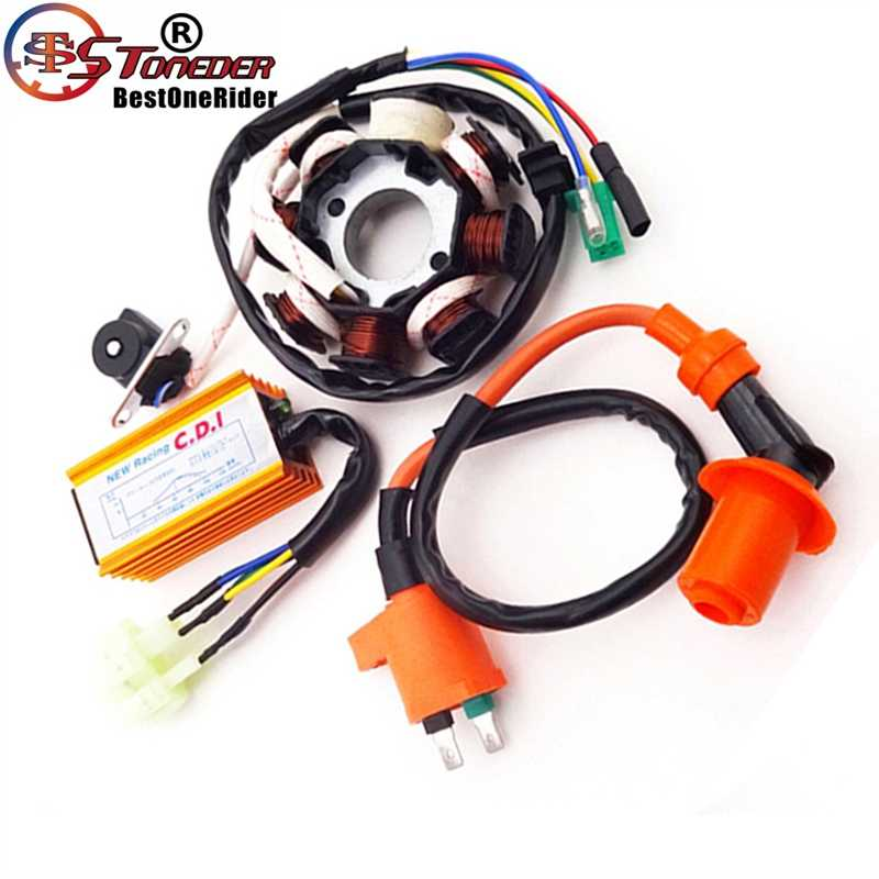 STONEDER Magneto Stator Racing Ignition Coil 6 Pins Wires AC CDI Box For  Chinese GY6 125cc 150cc Engine ATV Quad Moped Scooter