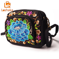 Loshaka Women Shoulder Bags Fashion Flower Embroidery Canvas Retro Messenger Bag Crossbody Chinese Style Casual Ethic Handbag
