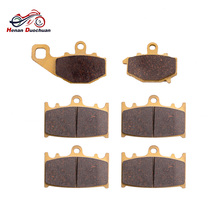 3pair Motorcycle Part Brake Pads Disk For KAWASAKI ZR 400 Zephyr ZZR 600 ZX-6R ZZR 400 Front Rear Brake цены