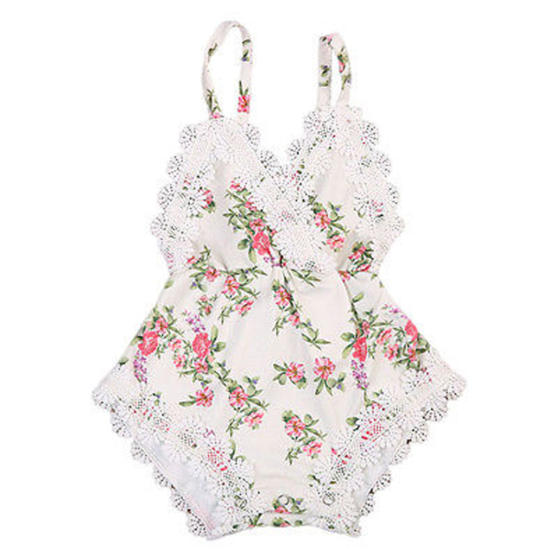 New Fashion Lovely Kids Baby Girl Clothes Lace Floral Romper Sleeveless Lace Jumpsuit Sunsuit Outfits Clothes
