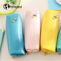 Wholesales 40pcs Metal Horse Pencil Case PU Pen Bag Kawaii Stationery Yellow Blue Pink Green Pencilcase Office School Supplies