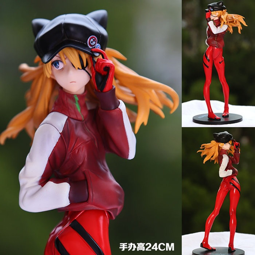 Anime EVA Neon Genesis Evangelion Action Figure SORYU ASUKA LANGLEY PVC Collection Model Toy With Box Free Shipping nendoroid eva neon genesis evangelion soryu ayanami rei 467 asuka langley 468 pvc action figure collection model doll toy