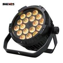 2 sztuk wodoodporny reflektor LED Flat Par 18x12W RGBW DMX512 efekt sceniczny oświetlenie do pływania na świeżym powietrzu basen DJ dyskoteka klub nocny i Bar