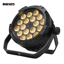 2PCS Waterproof LED Flat Par 18x12W RGBW DMX512 Stage Effect Lighting For Outdoor Swimming Pool DJ Disco Party Nightclub And Bar