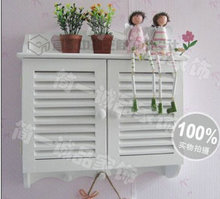 Rustic wood venetian window wall white electric box meter box router distribution box decoration(China)