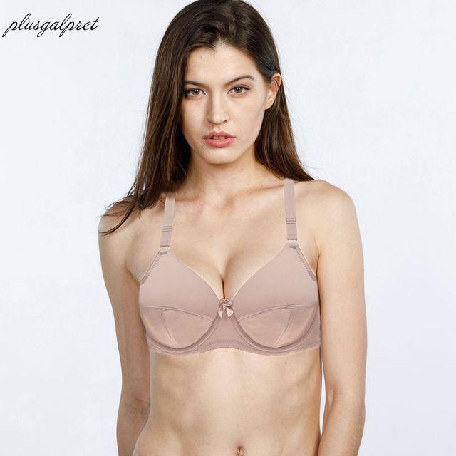 67ad0ef4668f2 Plusgalpret Women Everyday Underwear Plus Size Bra Underwired Bralette Push  Up Brasier Mujer Full Cup Minimizer Bra 36C-52DDD