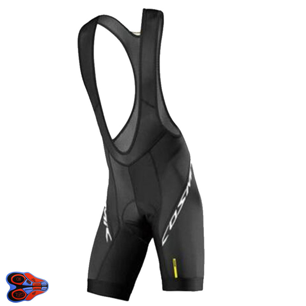 2019 UCI Team <font><b>MAVIC</b></font> Cycling <font><b>Bib</b></font> <font><b>Shorts</b></font> Summer Coolmax Color BLACK 9D Gel Pad Bike <font><b>Bib</b></font> Mtb Ropa Ciclismo Moisture Wicking Pants image