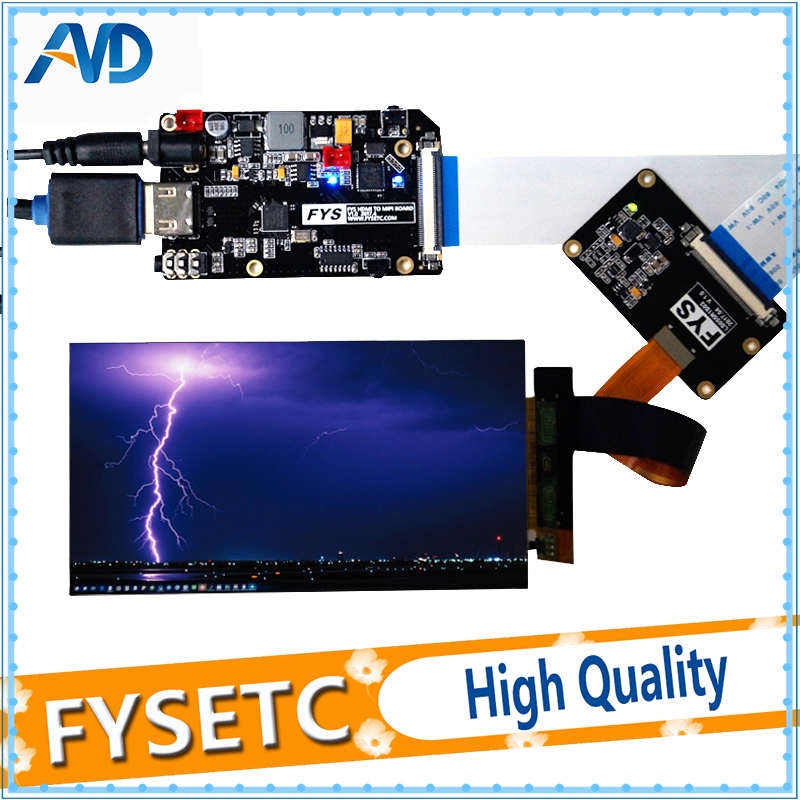 5.5 inch 2k LCD Module LCD Screen Display and HDMI MIPI Driver Board Replacement For Wanhao Duplicator 7 3D Printer VR Glass