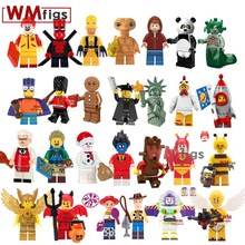 Bart Simpsons Toy Story 4 E.T. Alien Minifigs Model Building Block Pumping Cartoon Super Mario Luigi Girl Toys for Children Gift(China)