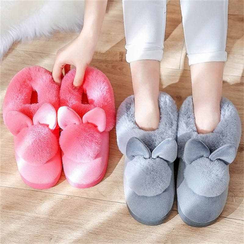 2018 Fashion Women Winter Slippers Plush Casual Cute Warm Home Indoor Slippers Female Ladies Cotton Women Winter Shoes CJ257 fongimic comfortable women slippers women casual indoor plush shoes autumn winter warm fashion slippers hot sale flat slippers