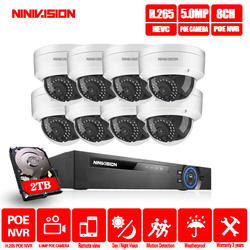 H.265 8CH 5MP 16CH 1080 P POE NVR комплект CCTV системы безопасности 5MP IR Открытый POE IP камера P2P видео набор для наблюдения 2 ТБ HDD