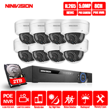 H.265 8CH 5MP 16CH 1080P POE NVR Kit CCTV Security System IR Outdoor IP Camera P2P Video Surveillance Set 2TB HDD