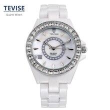 Fashion Original Brand Ladies Watch White Ceramic Strap Quartz Watch New Elegant Women's Business Watches Gift Watch B014