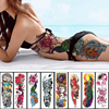 1PC NEW 48*17cm Full Flower Arm Tattoo Sticker 40models Fish Peacock Lotus Temporary Body paint Water Transfer fake Tatoo sleeve